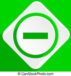 minus green flat icon