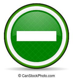 minus green icon