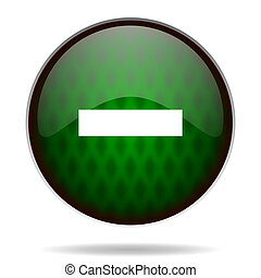 minus green internet icon