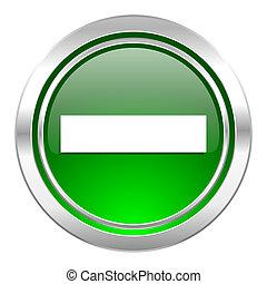 minus icon, green button