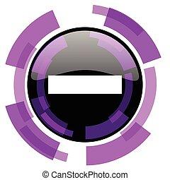 Minus pink violet modern design vector web and smartphone...