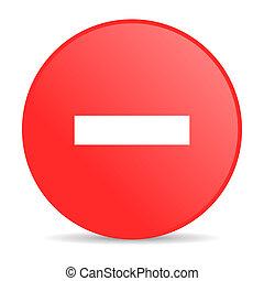 minus red circle web glossy icon