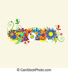 Minus sign. Floral design. See also signs in my gallery