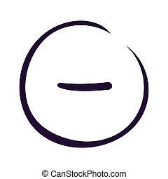 Minus sign icon on white backgound Vector illustration