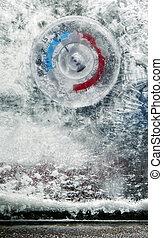 minus ten - Thermometer showing winter cold - ten below