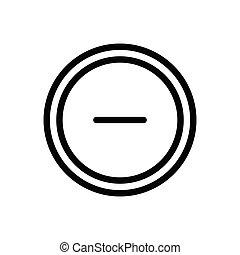 minus thin line icon