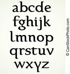 Minuscule Alphabet inspired by the Foundational Hand....