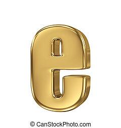 minuscule, e, or, solide, lettre, alphabet.