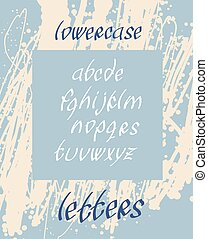 minuscule, police, lettres