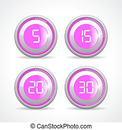 5 vecteur minutes minuteur illustration 10 eps minuteur vecteur 5 illustration minutes - Minuteur 5 minutes ...