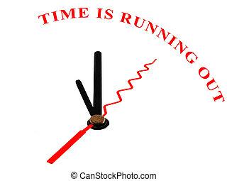 minuteur, et, mots, temps, est, courant, dehors