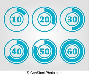 45 minuteur num rique 45 m tal nombre illustration - Minuteur 10 minutes ...