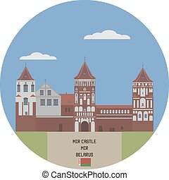 mir, castle., belarus, lugar famoso