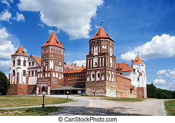 Mir Castle - Grand view to Castle of Mir, Belarus