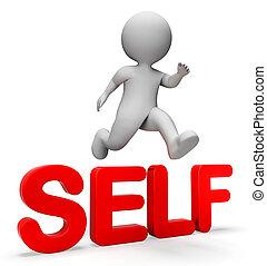 mir, vertrauen, selbst, verbessern, springen, übertragung, shows, 3d