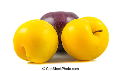 Mirabell and Damson Plum - Mirabelle and damson plum with ...