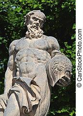 mirabell, statues, jardin, palais