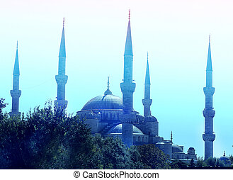 Miracle beautiful blue mosque