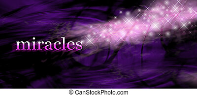 Miracles background - wide purple swirling lines background...