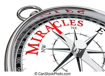 miracoli, concetto, modo, bussola