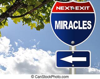 miracoli, segno strada