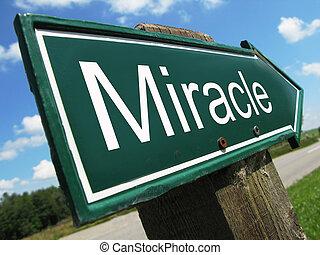 miracolo, segno strada