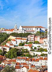 Miradouro da Graca from Sao Jorge castle in Lisbon, Portugal