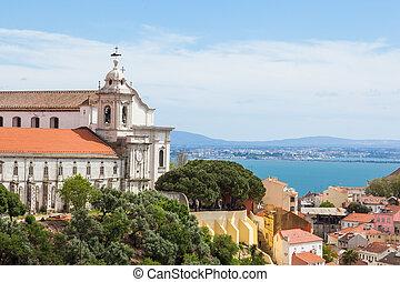 Miradouro da Graca from Senhora do monte viewpoint - miradouro in Lisbon, Portugal