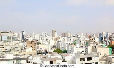 Miraflores, Lima, Peru. Time Lapse. buildings