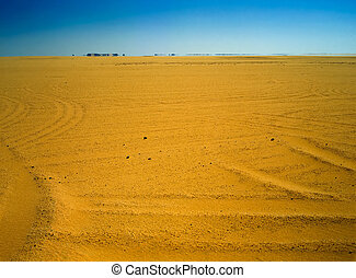 Mirage - Egyptian desert with mirage