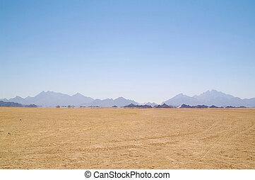 Mirage in desert - Mirage (water) in desert, Africa