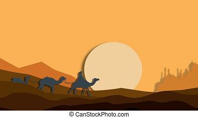 Mirage in the African desert