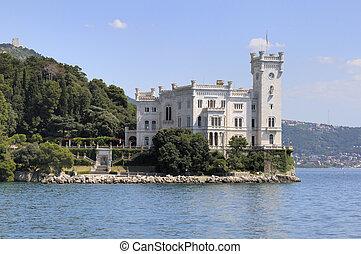 Miramare Castle in Trieste (Italy) - Trieste (Italy):...