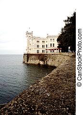 Miramare castle, Trieste - View of Miramare castle, Trieste...