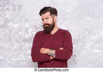 mirar, appearance., mustache., facial, hipster, mantener, guy., barbudo, crecer, elegante, concept., barba, peluquero, manhood., moda, hombre, tattooed, hipster., macho., bueno, hair., puntas