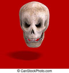 mirar, cráneo, usted, toon