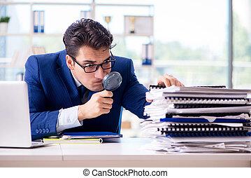 mirar, declaraciones, errores, financiero, auditor