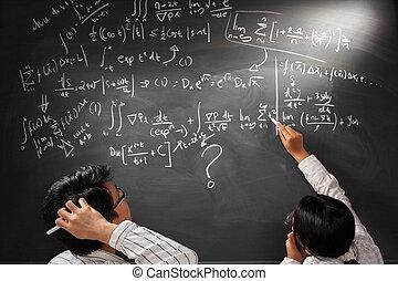 mirar, ecuación, complejo, difícil