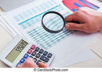 mirar, financiero, finanzas, informes, analista