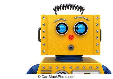 mirar, juguetee robot, izquierda
