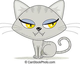 mirar, lindo, gatito