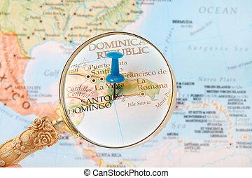mirar, santo, república, dominicano, domingo