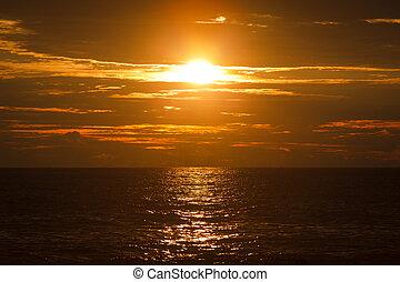 mirissa, sri lanka, oceânicos, sunset.
