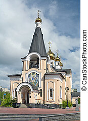 Mirny, Russia - June 15, 2014: Holy - Trinity Church in the city of Mirny, Republic of Sakha