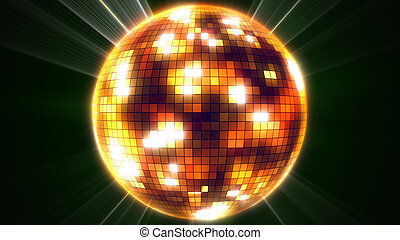 miroir, ball., disco