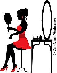miroir, femme