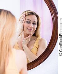 miroir, loking