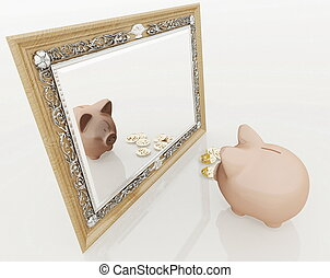 miroir, porcin