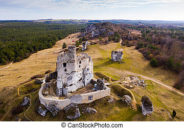Mirow castle ruins, Silesia Province, Poland