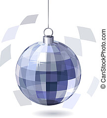 Mirror Ball on white background